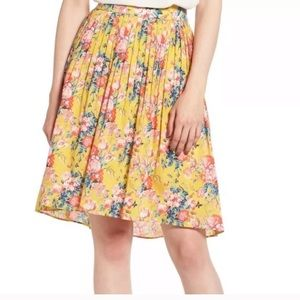 NWT J.Crew floral yellow skirt